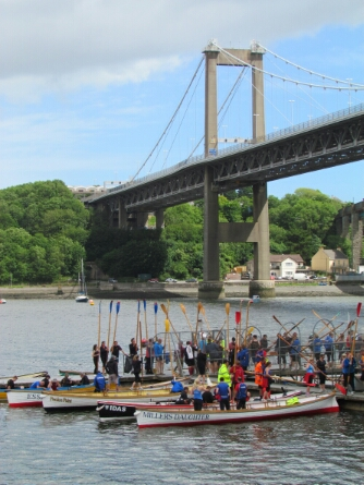 Gig racing at Saltash regatta
